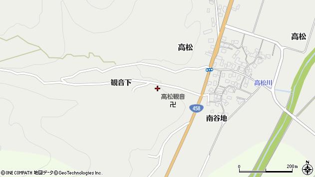 山形県上山市高松1493周辺の地図