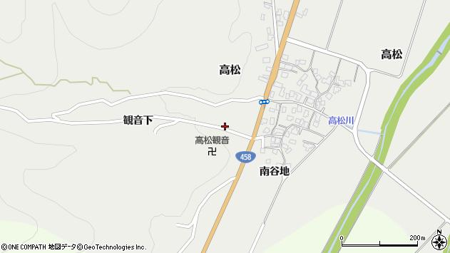 山形県上山市高松観音下1516周辺の地図