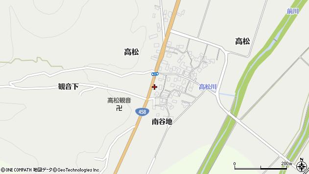 山形県上山市高松62周辺の地図