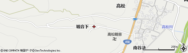 山形県上山市高松1525周辺の地図