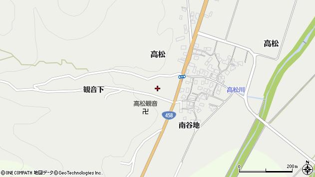 山形県上山市高松52周辺の地図