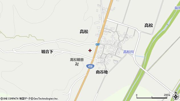 山形県上山市高松59周辺の地図