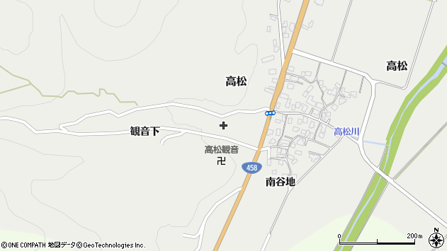 山形県上山市高松50周辺の地図