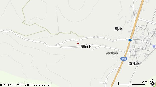 山形県上山市高松11周辺の地図