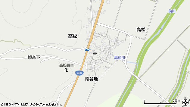山形県上山市高松87周辺の地図