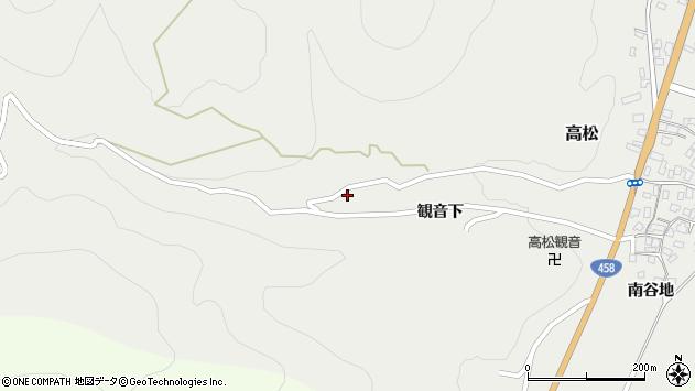 山形県上山市高松5周辺の地図