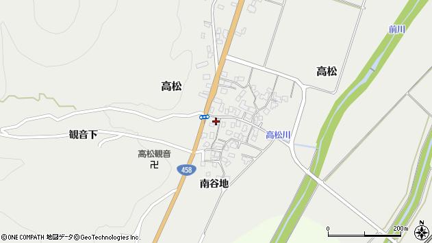 山形県上山市高松66周辺の地図