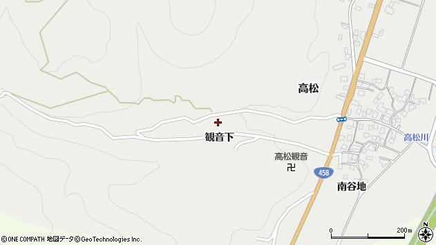 山形県上山市高松20周辺の地図