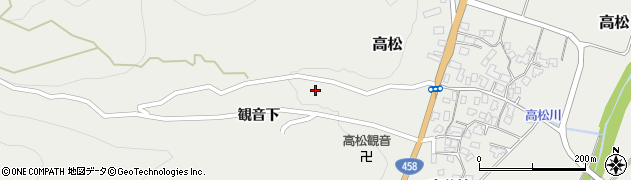 山形県上山市高松41周辺の地図