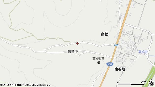 山形県上山市高松30周辺の地図