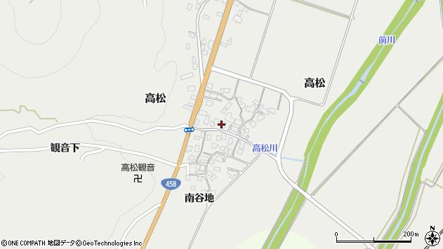 山形県上山市高松111周辺の地図