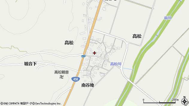 山形県上山市高松112周辺の地図