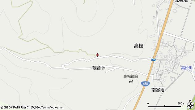 山形県上山市高松16周辺の地図