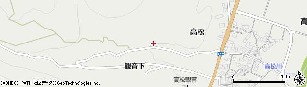 山形県上山市高松35周辺の地図