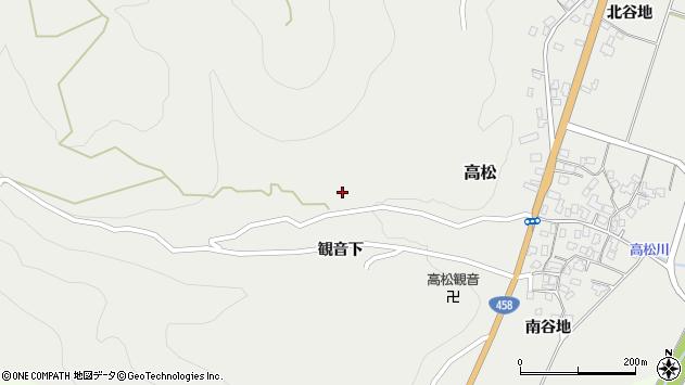 山形県上山市高松26周辺の地図