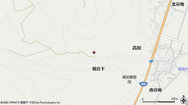山形県上山市高松22周辺の地図