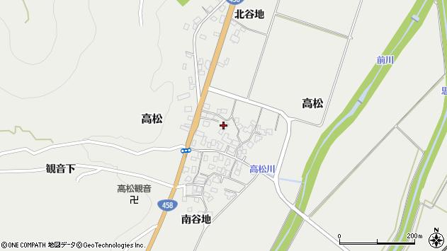 山形県上山市高松107周辺の地図