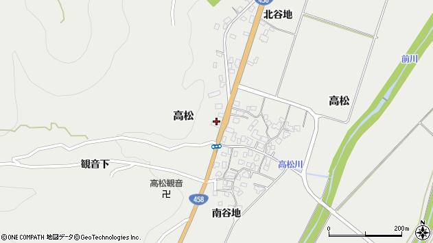 山形県上山市高松122周辺の地図