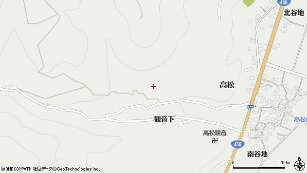 山形県上山市高松23周辺の地図