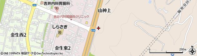山形県上山市金生金沢周辺の地図