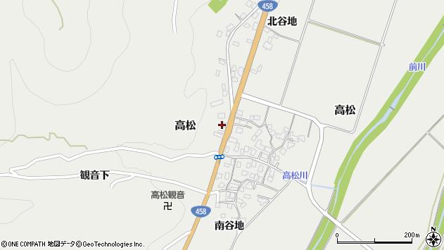 山形県上山市高松125周辺の地図