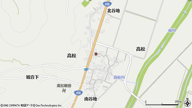 山形県上山市高松126周辺の地図