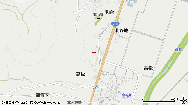 山形県上山市高松137周辺の地図