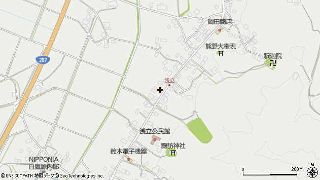 山形県西置賜郡白鷹町浅立3845周辺の地図