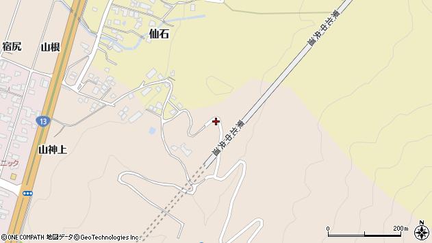 山形県上山市金生北沢山1414周辺の地図