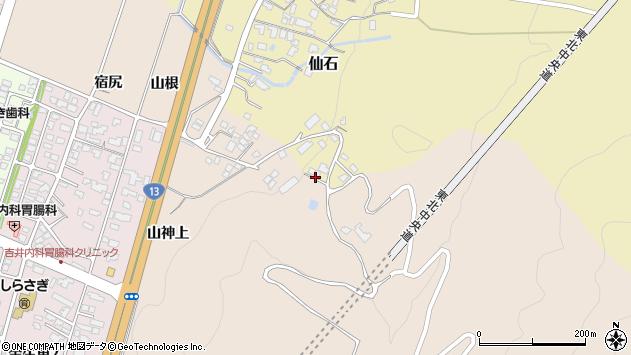 山形県上山市仙石ハカ尻山周辺の地図