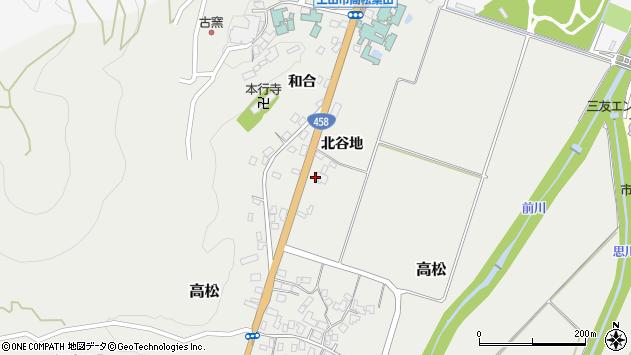 山形県上山市高松310周辺の地図
