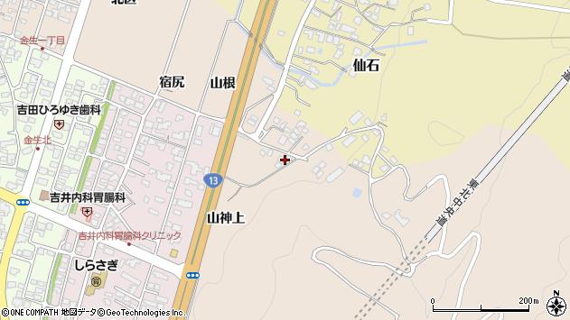 山形県上山市金生山根1031周辺の地図