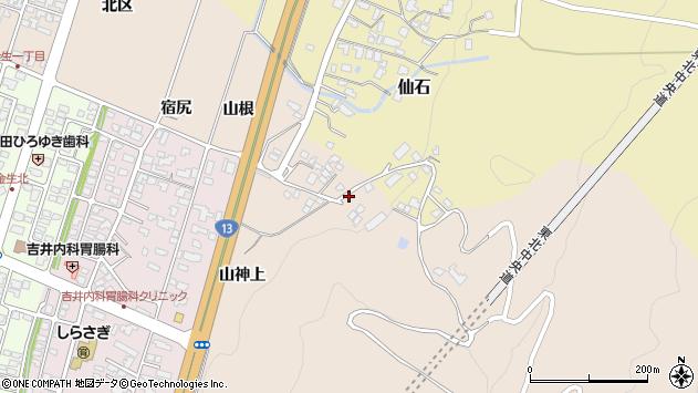 山形県上山市金生山神上1102周辺の地図