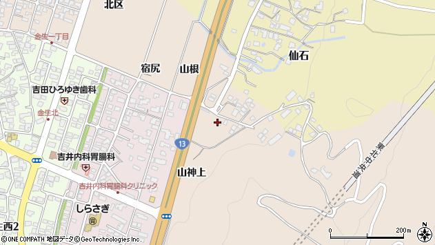 山形県上山市金生山根141周辺の地図