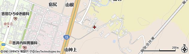 山形県上山市金生山根966周辺の地図