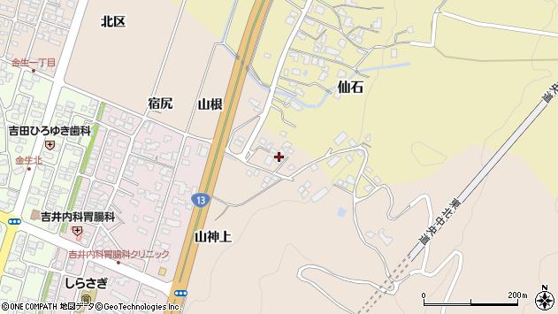山形県上山市金生山根1057周辺の地図