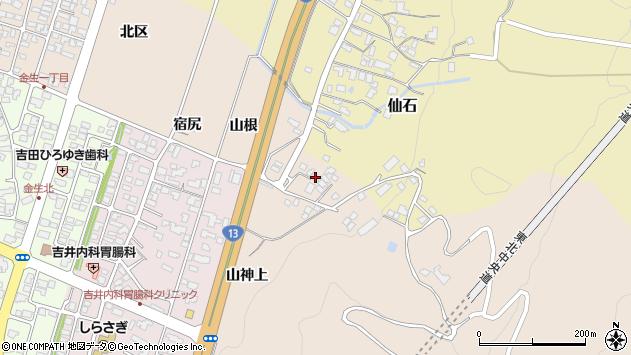 山形県上山市金生山根1029周辺の地図