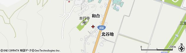 山形県上山市高松和合181周辺の地図
