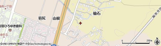 山形県上山市仙石374周辺の地図