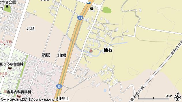 山形県上山市仙石糸目周辺の地図
