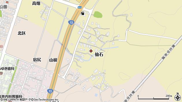 山形県上山市仙石379周辺の地図