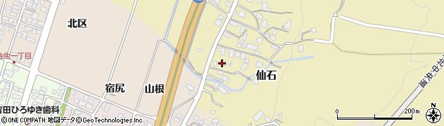 山形県上山市仙石380周辺の地図