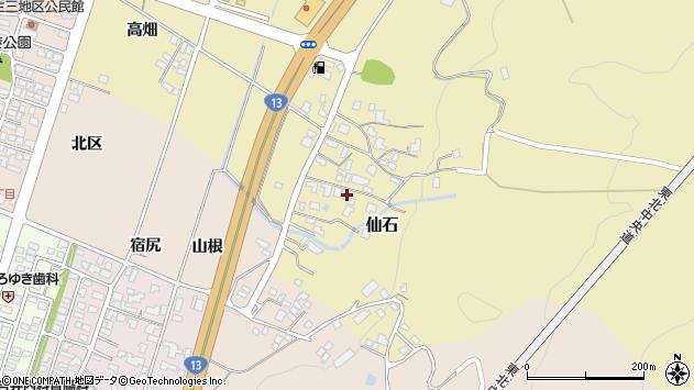 山形県上山市仙石348周辺の地図