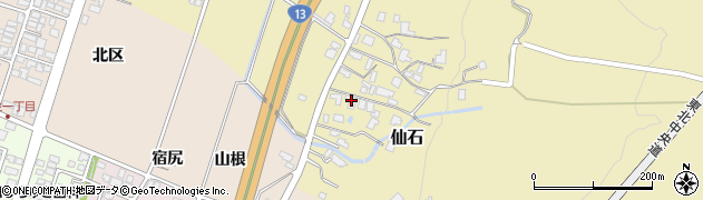 山形県上山市仙石382周辺の地図