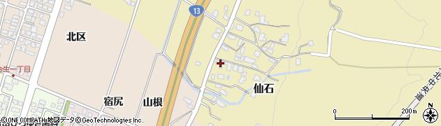 山形県上山市仙石381周辺の地図