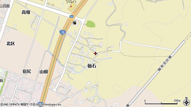 山形県上山市仙石1383周辺の地図