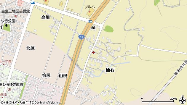 山形県上山市仙石385周辺の地図