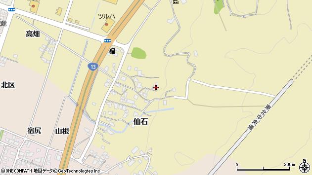 山形県上山市仙石屋敷裏1263周辺の地図