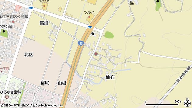 山形県上山市仙石390周辺の地図