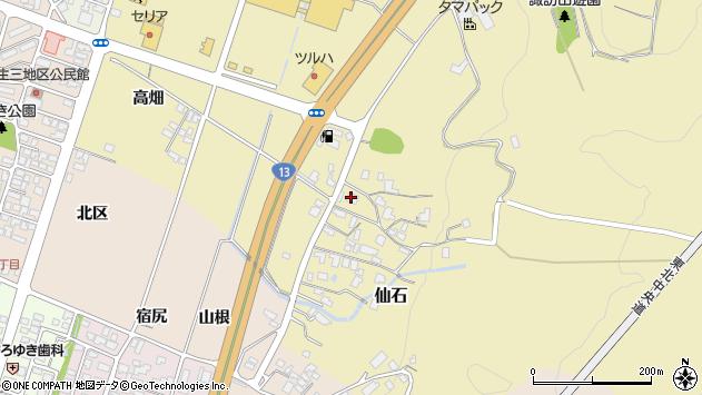 山形県上山市仙石395周辺の地図